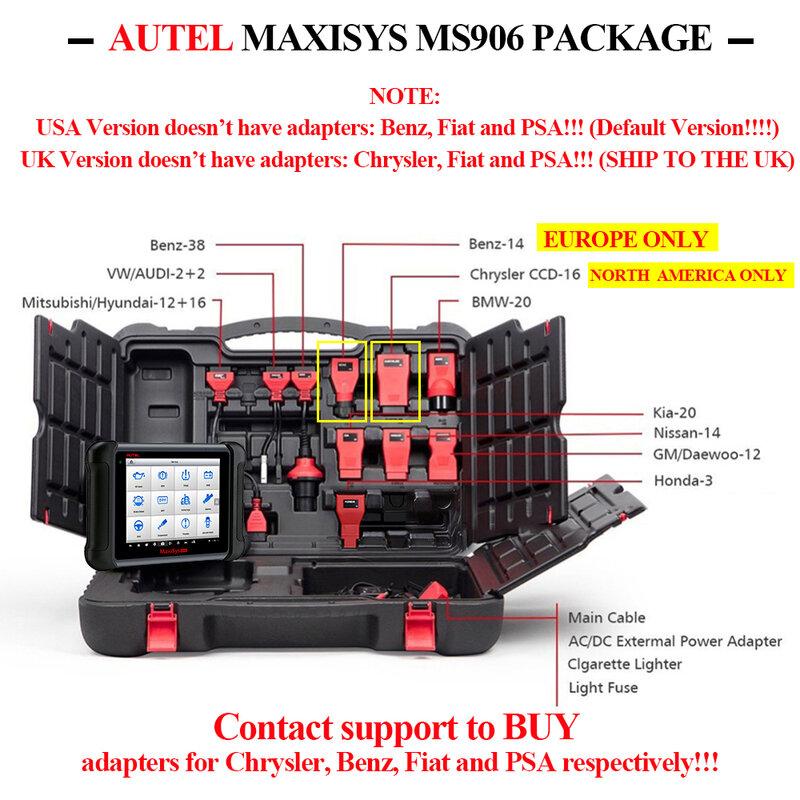 Autel Herramienta De Diagnóstico Automático Maxisys Ms906 Escáner Obd2 Codificación De Llaves Automotrices Obd 2 Ecu Probador Programador De Llaves Pk Ms906bt Ms906ts Bestdealplus