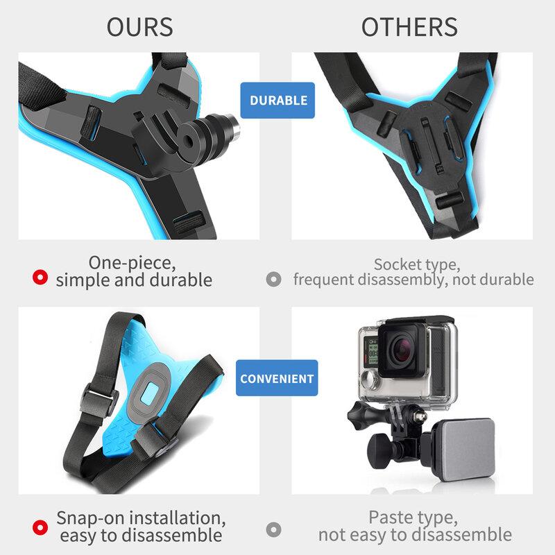 Shockproof Fixing Bracket Motorcycle Helmet Chin Holder Integrated Helmet Belt for DJI Action Camera for GoPro Hero 8//7//6//5 Sports Camera Helmet Chin Mount