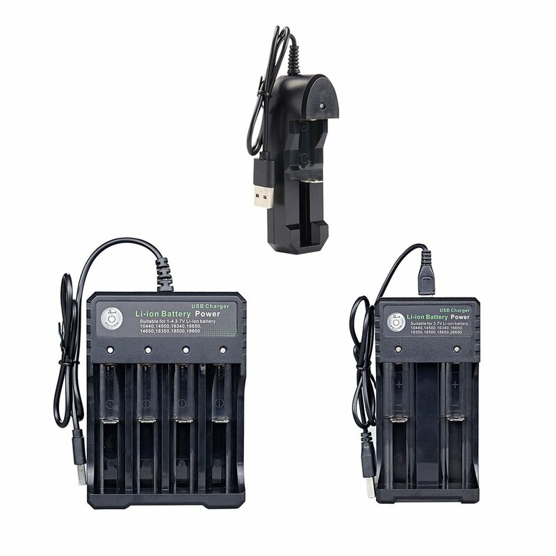 Battery Charger for AA AAA Batteries 4 Ports Battery Charger with USB Plug Universal Power Tool Accessories anyilon