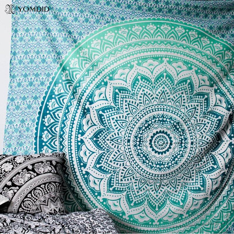 Indiana Mandala Arazzo Appeso A Parete Multifunzionale Arazzo Boho Stampato Copriletto Copertura di Yoga Zerbino Coperta di Picnic del panno