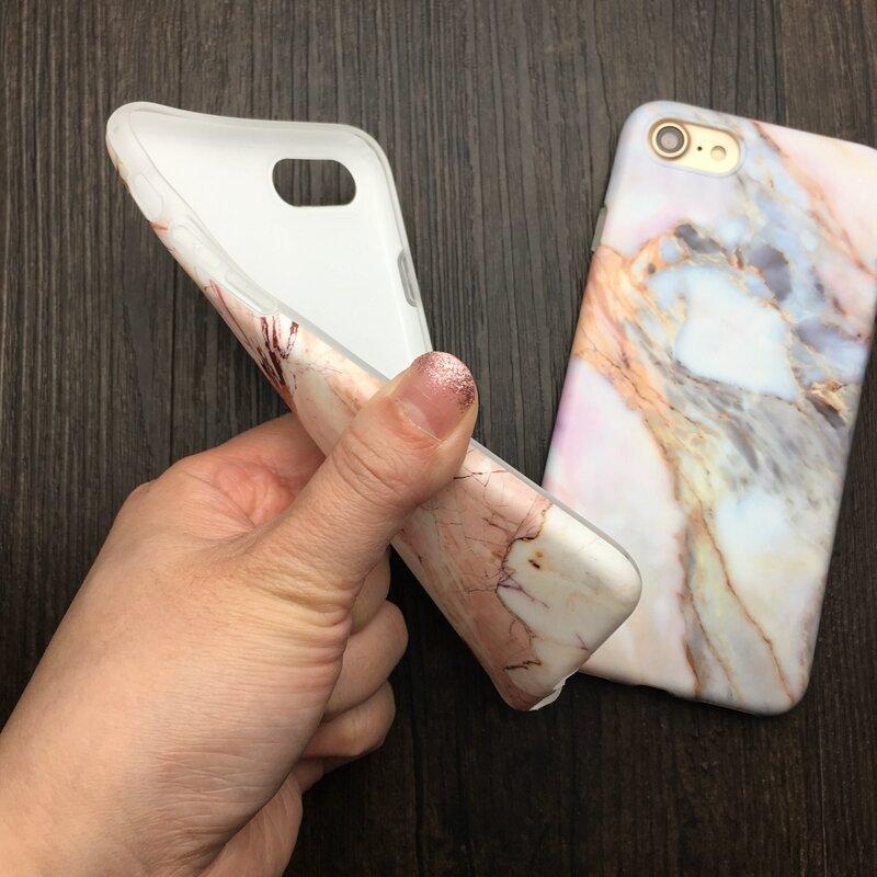 Antichoc Marbre Pierre Mat étui pour iPhone 11 Pro XR XS Max Soft Silicone TPU Couverture Arrière Pour iPhone 7 6 6S 8 Plus Capa Coque