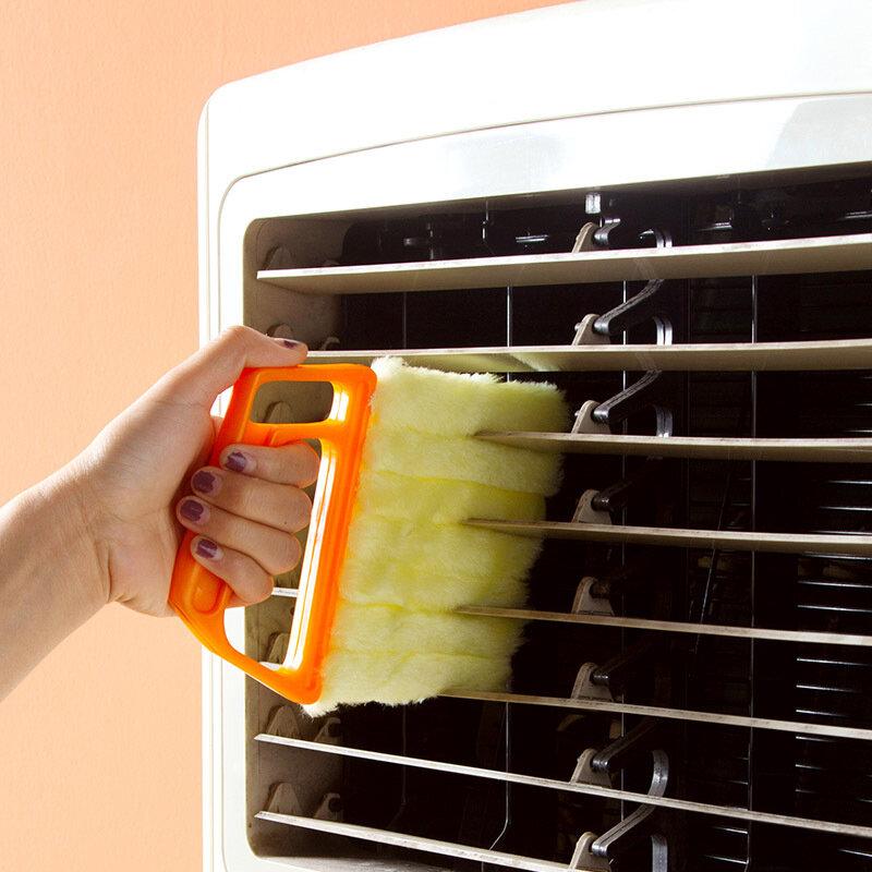 유용한 마이크로 화이버 창 청소 브러시 빨 수있는 베네 치안 블라인드 블레이드 천으로 에어컨 더 스터 클리너 홈 클리닝