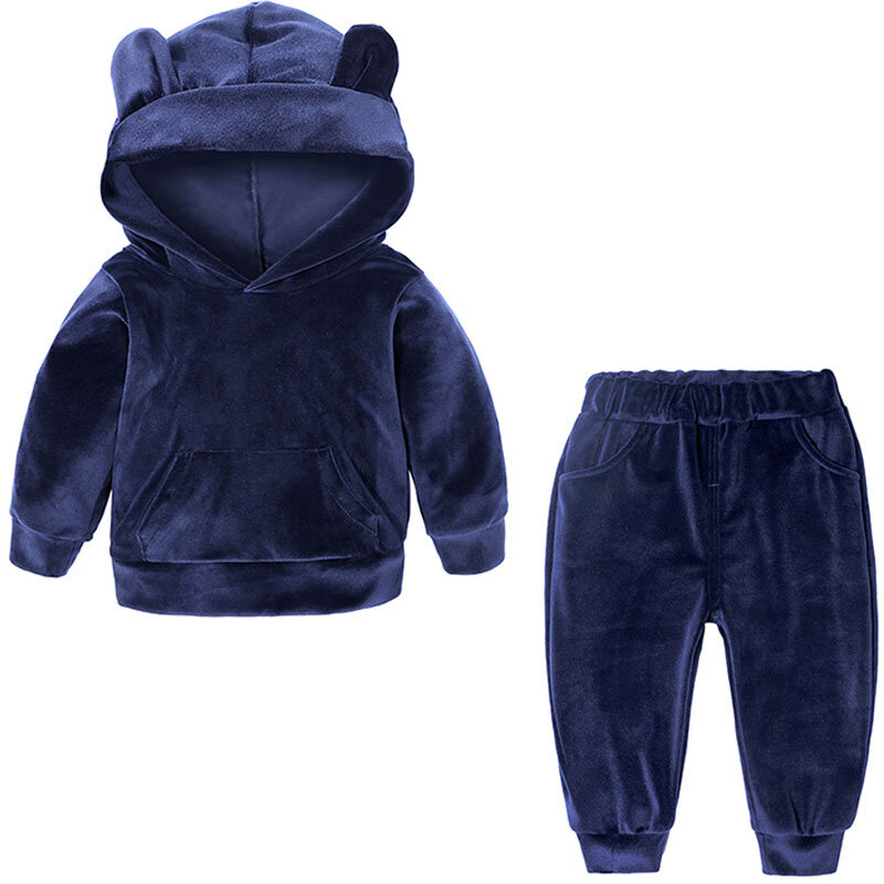 Kids Boys Girls Frozen Anna Elsa Hooded Top Pullover Top Tracksuit Sport Outfits