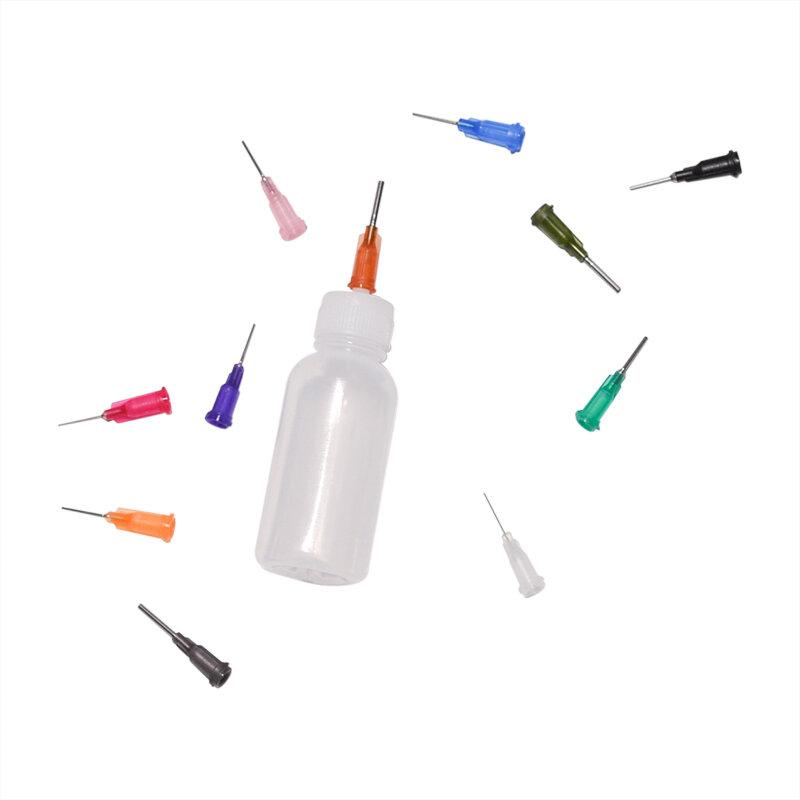 1Set 30 مللي إبرة البولي ايثيلين شفافة الاستغناء موزع زجاجة ل الصنوبري لحام الجريان لصق 11 الإبر