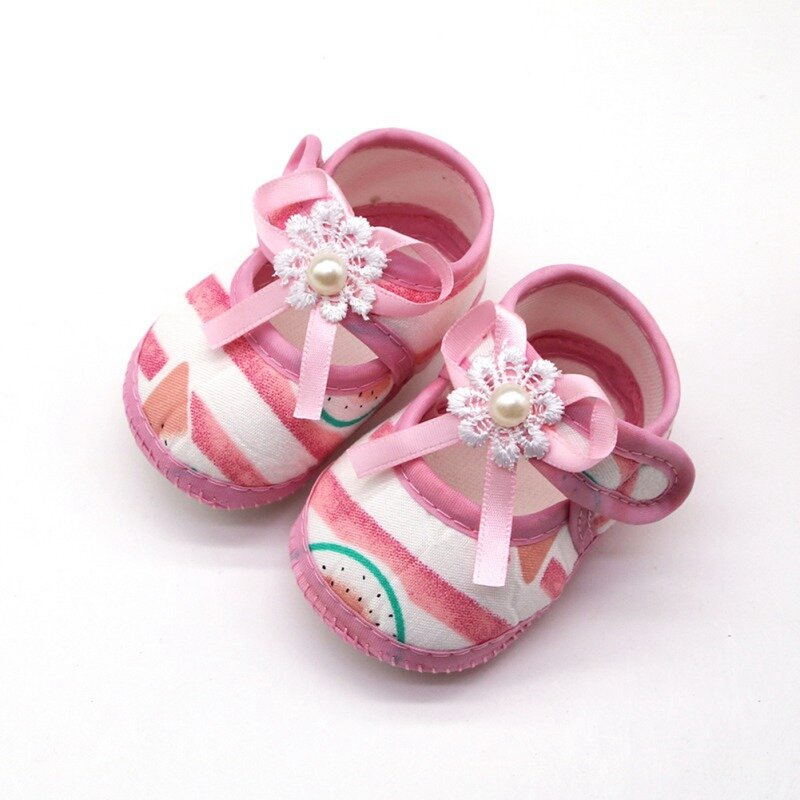 Baby Kids Girls Shiny Sandals Shoes Headband Soft Soled Cribs Casual  Prewalker