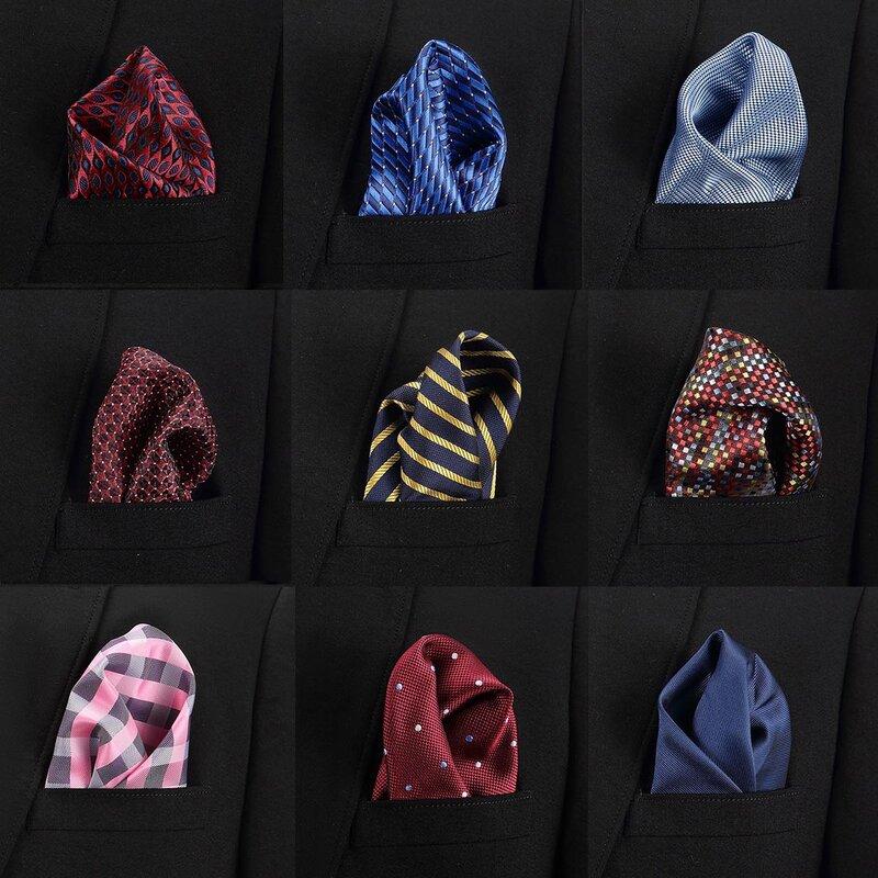 Kerchief Handkerchief Suits Pocket Solid Plain Candy Colors Square Men/'s Hanky