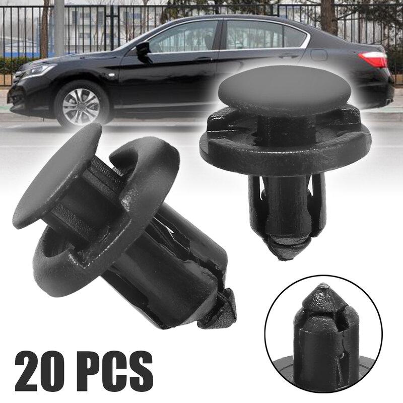 10 pcs Packed Black Insight Front Bumper Locking Hooks /& Clip Fastener Push Latch Rivet Trim Rivet for Honda Accord Color:Black