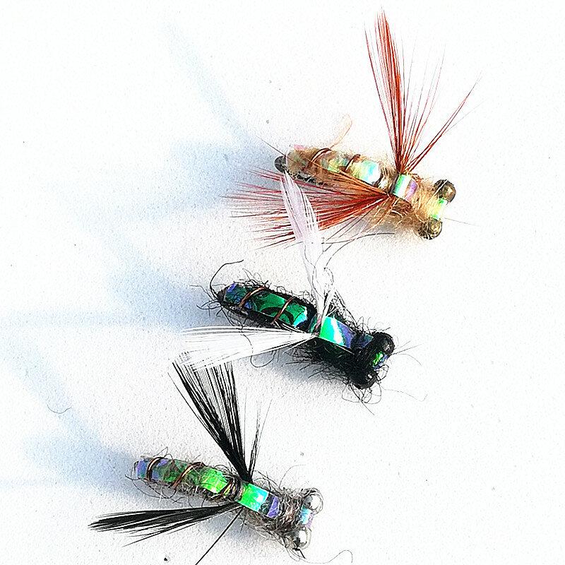 Kkwezva Señuelo De La Pesca Con Mosca Moscas Húmedas Ninfa Trucha Anzuelo De Color Natural Señuelos De Pesca En Hielo Cebo De Insectos Artificiales 18 Uds Bestdealplus