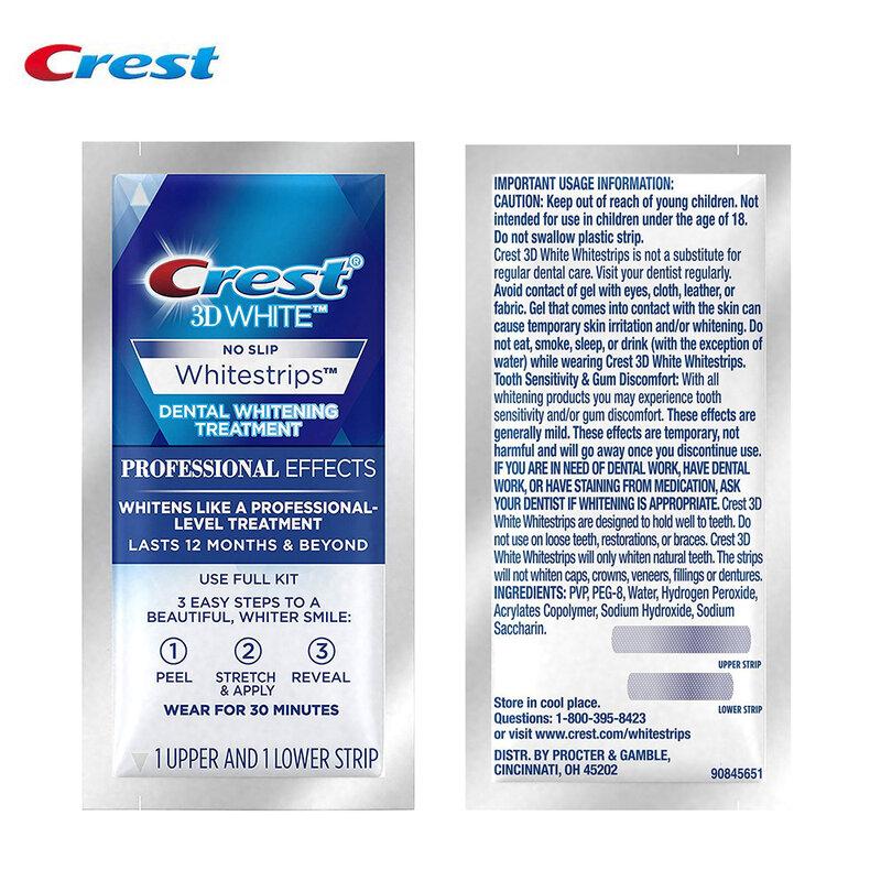Crest 3D White LUXE-sin cajas, blanqueador dental, 10 bolsas (20 rayas)