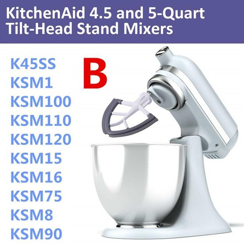 Flex Edge Beater Adatto Per Kitchen Aid Miscelatore Con Supporto Inclinabile 4 5 E 5qt K45ss Miscelatore Per Utensili Da Cucina Cucina Ristorazione E Bar