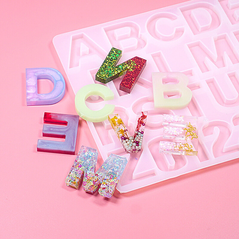 3D Silicone Number /& Alphabet Letter Trays Casting Mold Resin Decorating Tools