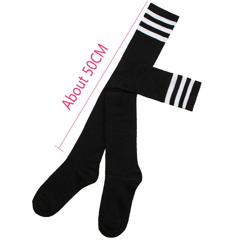 Womens 50 Full Print Stockings Cat And Heart Desserts Knee High Crew Socks