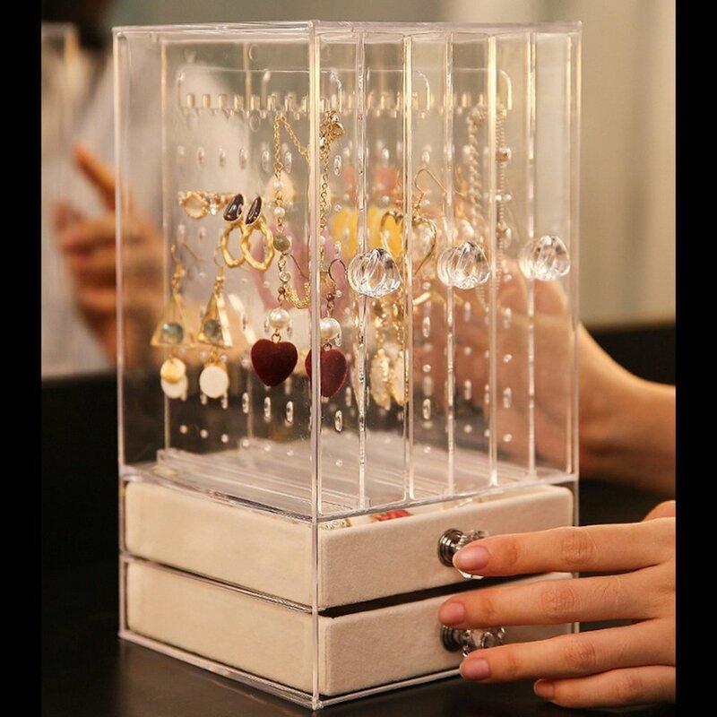 Dustproof Acrylic Display Shelf Jewelry Storage Box Drawers Storage Case