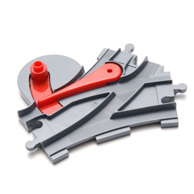 Railway Track Building Blocks Compatible With Duplo Train Track Crossover Parts
