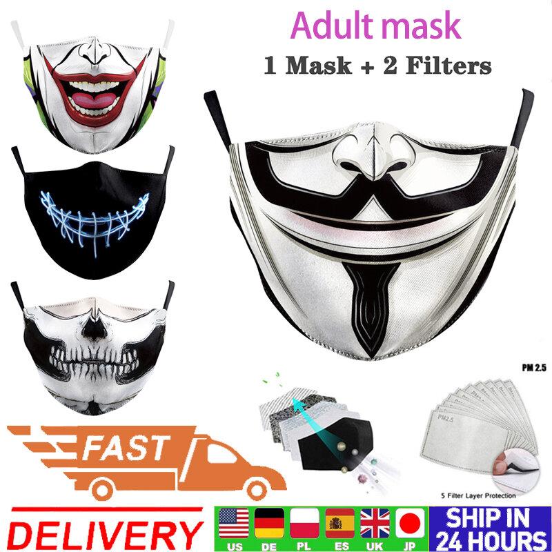 Adulto Mascaras Lavavel Impressao Dos Desenhos Animados Mascara Facial Pm2 5 Filtros Caotton Estampas Florais Mascaras Rosto Unissex A Prova De Poeira Boca Mascara De Cobertura Bestdealplus