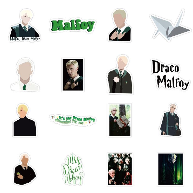 50 Unids Pack Draco Malfoy Pegatinas De Grafiti Adivinación Pegatinas Para Equipaje Portátil Refrigerador De La Motocicleta Monopatín Lápiz Bestdealplus