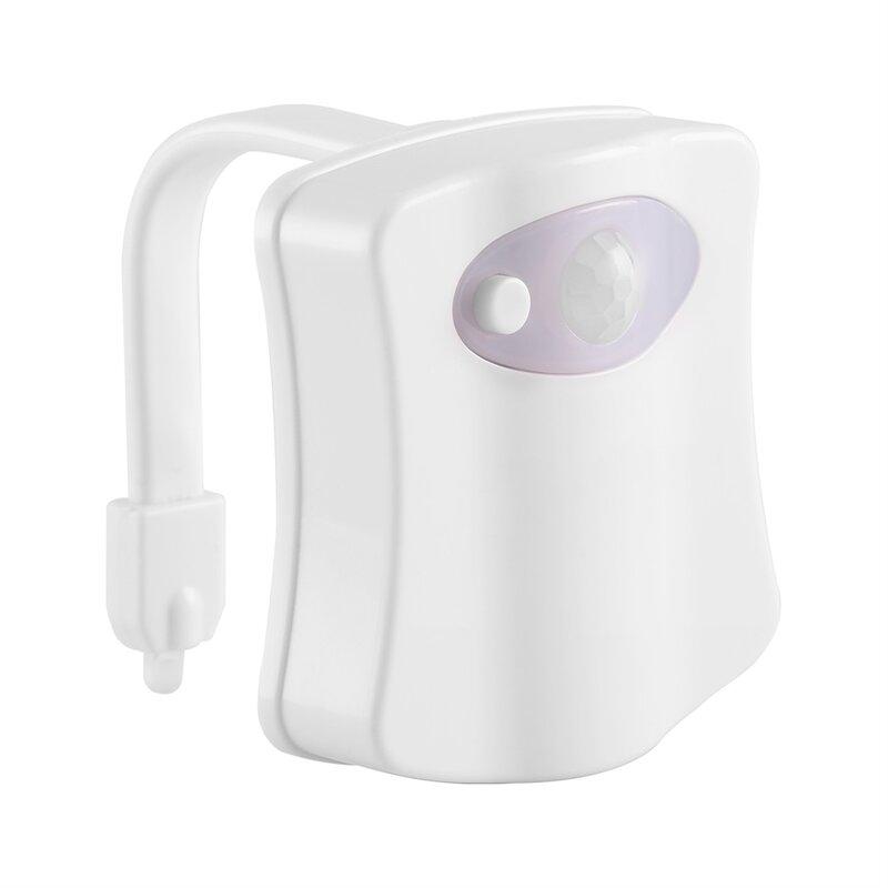 Luz Nocturna Led Inteligente Activada Por Sensor De Movimiento Humano Para Baño Con 8 Colores Lámpara De Asiento De Inodoro Luz De Asiento Con Sensor Automático Bestdealplus