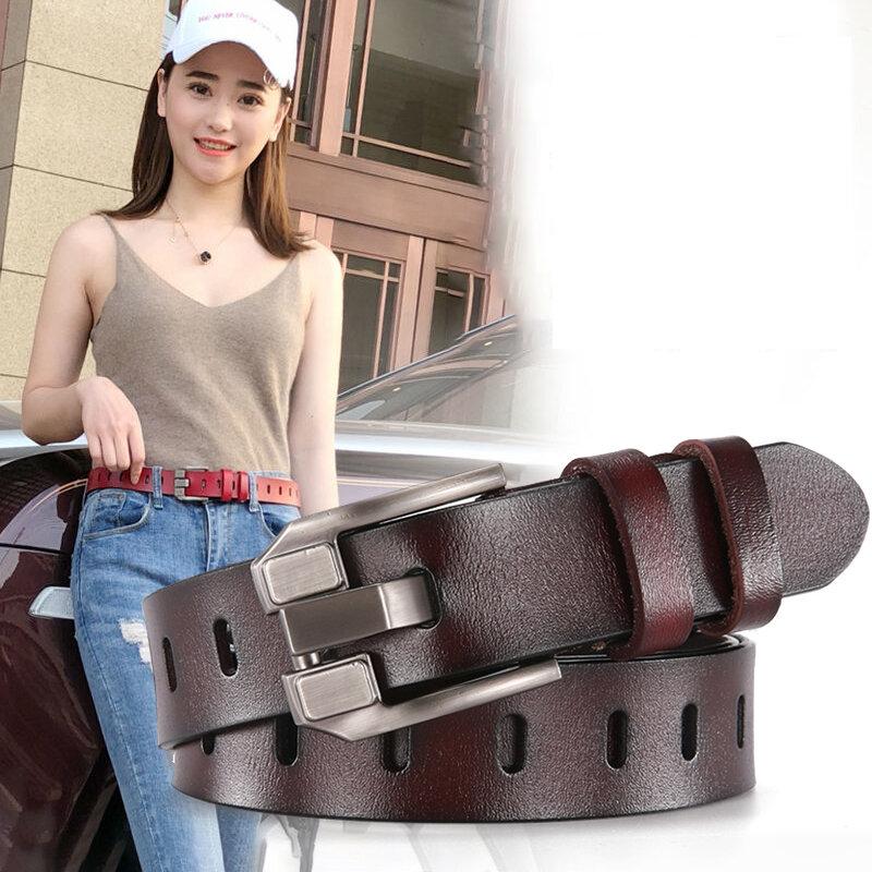 Fashion Belt Belts Leather Straps Western Cowboy Cowgirl Women Men Casual 120cm