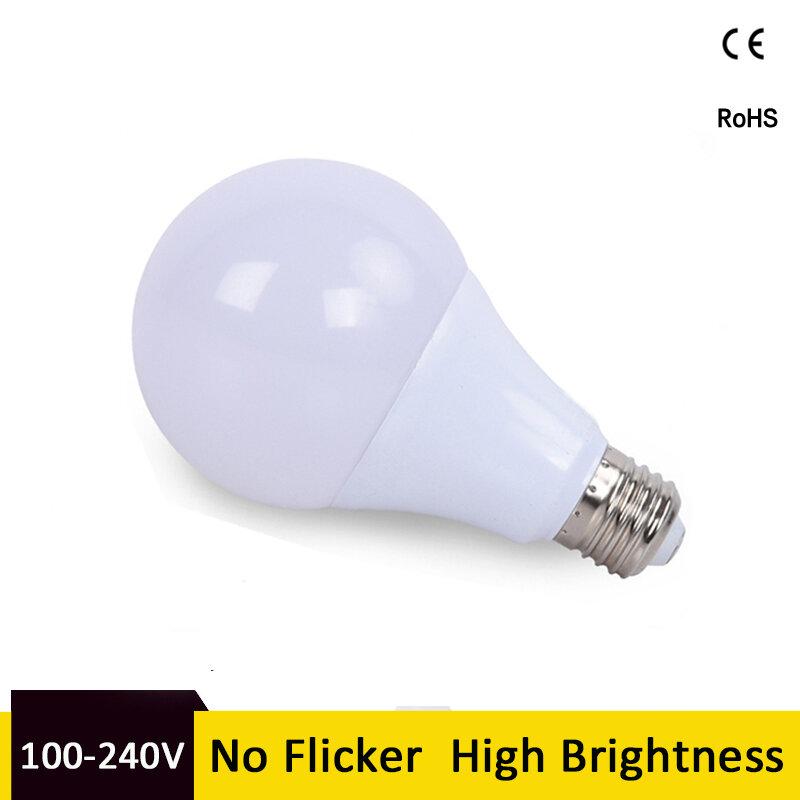 E27 Kühles Weiß Lampen SMD2835 3W 6W 9W 12W 15W 18W 110V 220V 6000k Led-lampe Schraube in Lampada Kalt Warm Weiß für Wohnzimmer