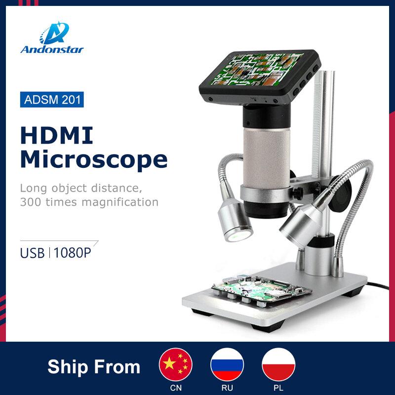 Andonstar-microscopio Digital de larga distancia para reparación de teléfono móvil, herramienta de soldadura bga smt, ADSM201, HDMI