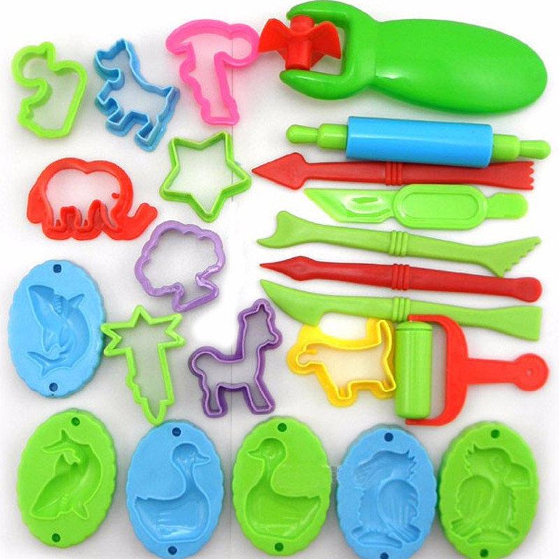 23 pièces/lot pâte à modeler outil pâte à modeler polymère argile pâte à modeler moule slime outils ensemble Kit pour enfants cadeau
