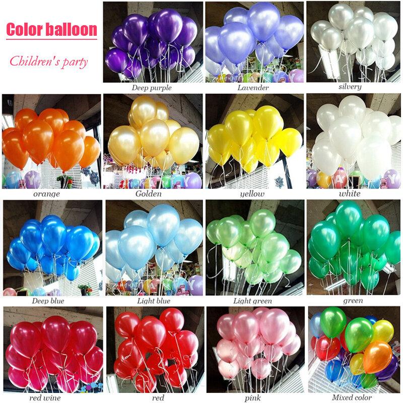 Ballons gonflables en Latex 10 pouces 100 pièces/lot   ballons de décoration, ballons rouges pour fête d'anniversaire pour enfants, ballons de mariage