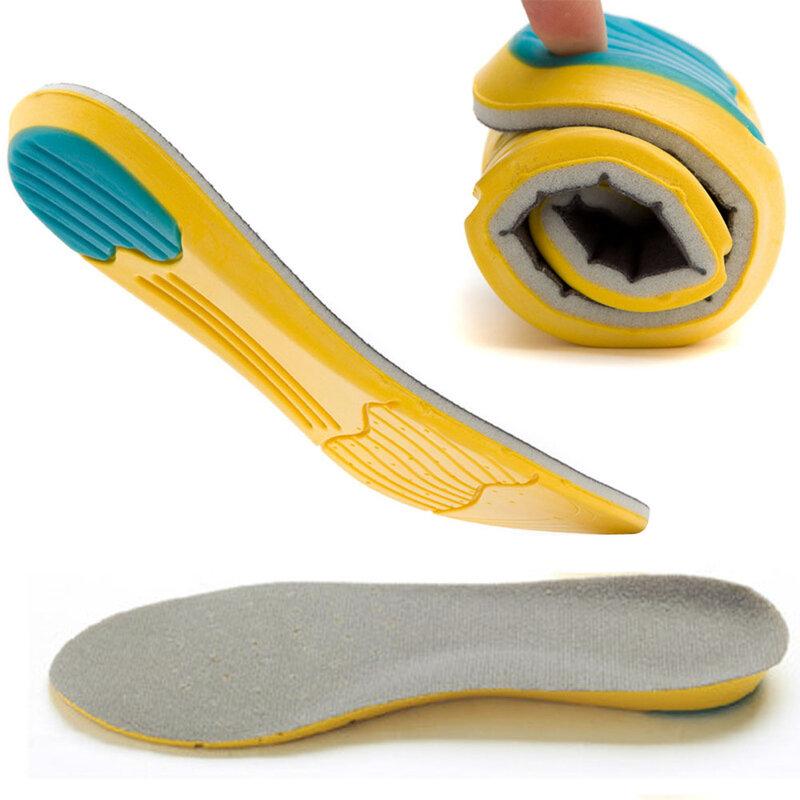 Coussinet de chaussures unisexe en mousse à mémoire de forme respirant absorbant la transpiration orthèse de sécurité douce et confortable semelle intérieure de sport athlétique S-L de choc