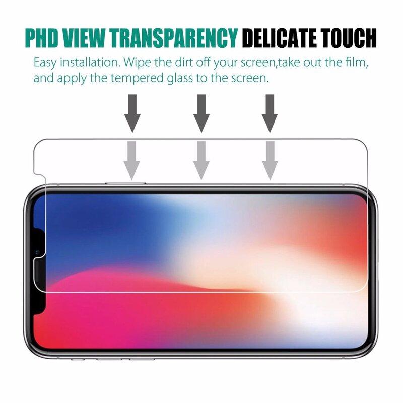 9H 0.26mm verre trempé anti-déflagrant pour iPhone X Ten 10 8 7 6 6S Plus 5 5S SE XS Max XR XS 11 Pro Max Film protecteur d'écran