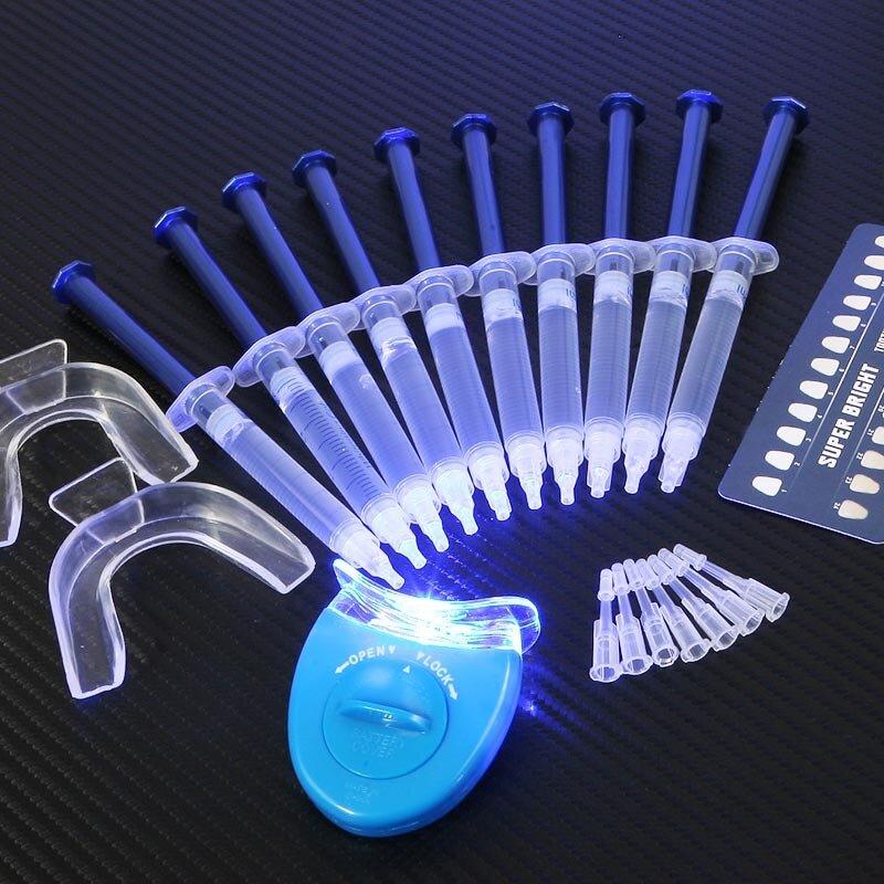 Caliente dentista blanqueador de dientes 44% de peróxido Sistema de blanqueado Dental Oral Gel Kit blanqueador de dientes herramientas dentales