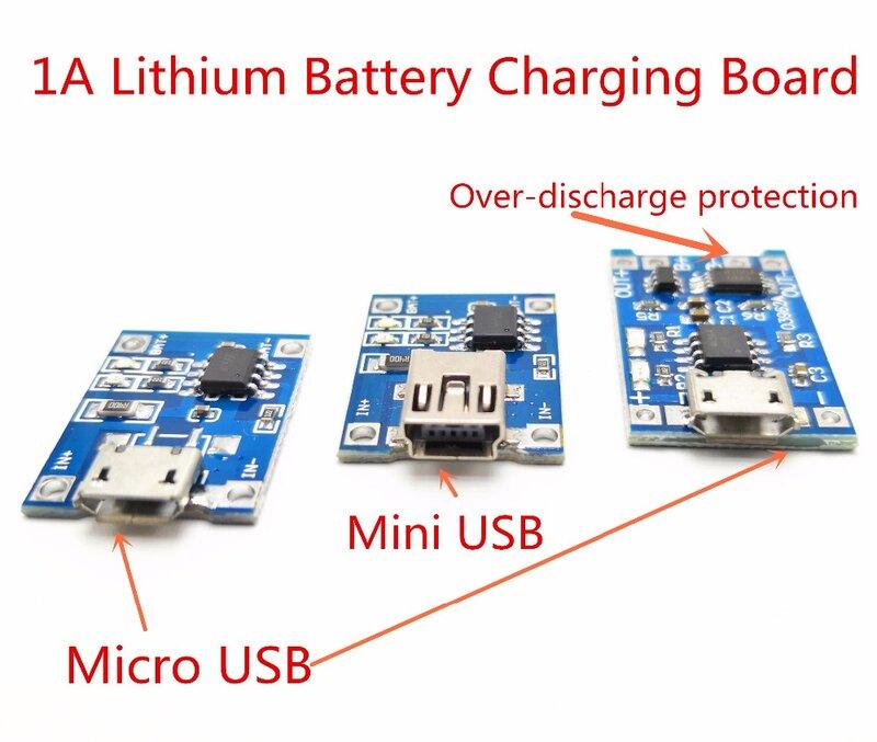 1-10 pcs Micro USB 5 V 1A 18650 TP4056 Batteria Al Litio Li-Ion Charger Modulo di Ricarica di Bordo Con o senza Funzioni di Protezione