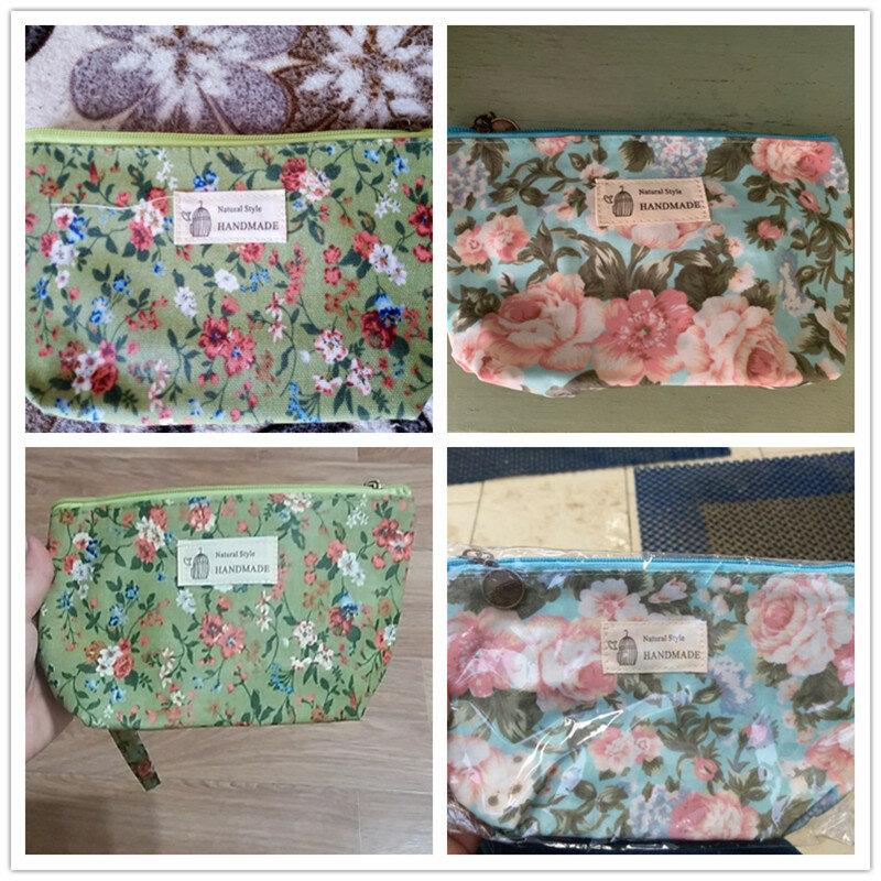 Miyahouse Neue Vintage Floral Gedruckt Kosmetik Tasche Frauen Make-Up Taschen Weibliche Zipper Kosmetik Tasche Tragbare Reise Make Up Pouch