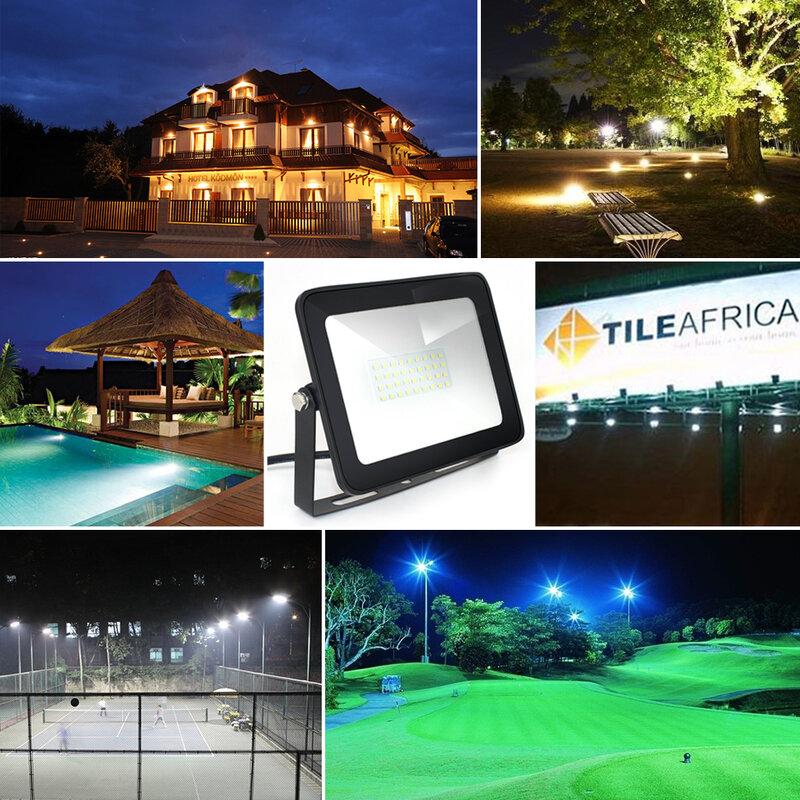 IP66 LED Flood Light 10W 30W 50W 100W 150W Ultra Thin Flood Light Led Spotlight Outdoor 220V Wall Lamp Projector Floodlight