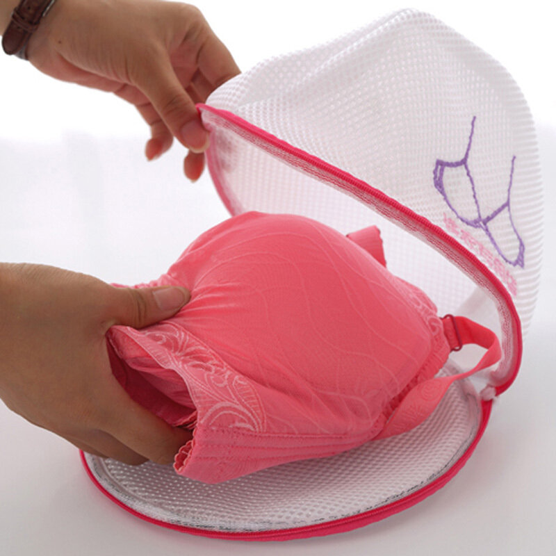 LOT OF 2 Bra Washing Bag Sweet Laundry Bag Underwear Lingerie Saver Mesh Basket