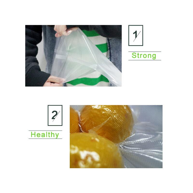 6 크기 12/17/20/22/28/ 25*500CM vakum 씰링 기계 패키지 진공 포장기 용 가방 포장지 용 곡물 식품 실러