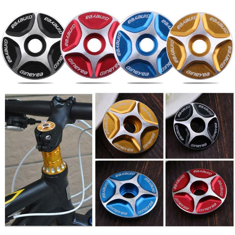 Bicycle Headset Cover Top Cap Dust Proof Alloy Stem Mountain MTB Cycling Bike 11