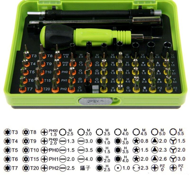 53 in1 Multi-Bit Präzision Torx-schraubendreher Pinzette Handy Reparatur Werkzeug Professionelle Flexible Bohrer Schraube Fahrer für Computer