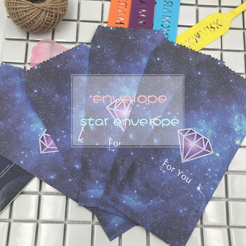 5 개/몫 드림 스타 종이 봉투 낭만적 인 별이 빛나는 스타일 봉투 빈티지 한국어 스타일 카드 Scrapbooking 선물 03220