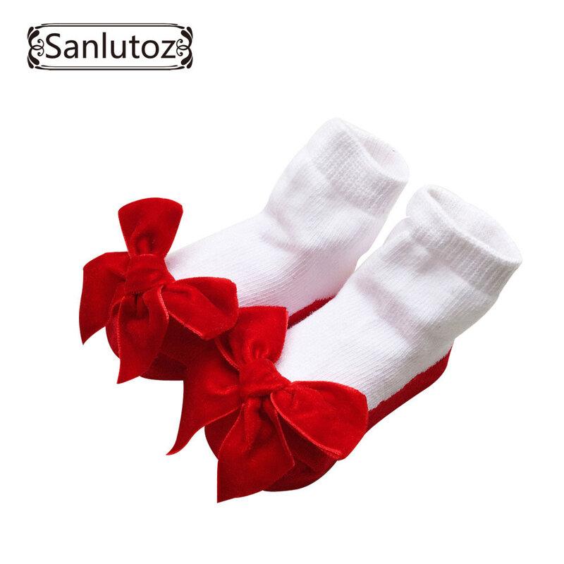 Sanlutoz-chaussettes pour bébés filles   Chaussettes pour nouveaux-nés de princesse, cadeaux d'anniversaire pour bébés filles de 0 à 12 mois