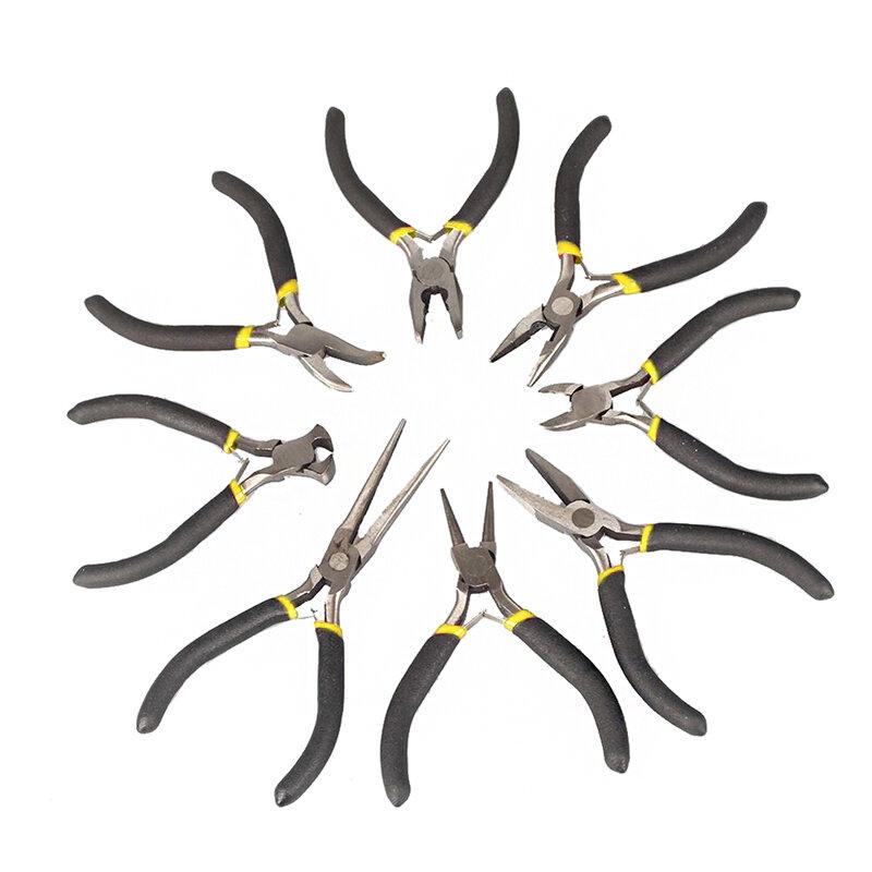새로운 보석 만들기 도구 구슬 펜치 라운드 플랫 와이어 사이드 커터 키트 세트
