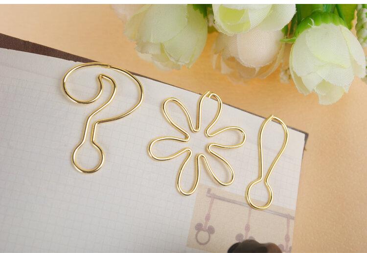 Trombone galvanisé or/rose, épingle en métal, Clip, marque-pages, accessoires de bureau, mignon nœud, trombone