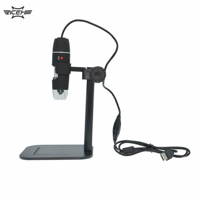 50x 500x usb led 디지털 전자 현미경 돋보기 카메라 블랙 실용적인 카메라 현미경 내시경 돋보기