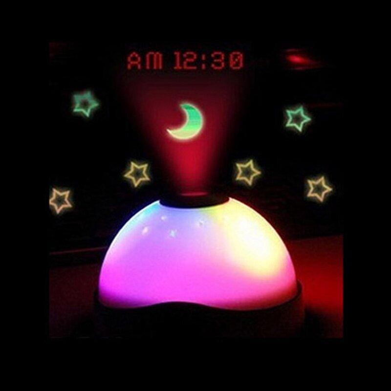 뜨거운 판매 별이 빛나는 디지털 매직 LED 프로젝션 알람 시계 밤 빛 색상 변경 horloge reloj despertador