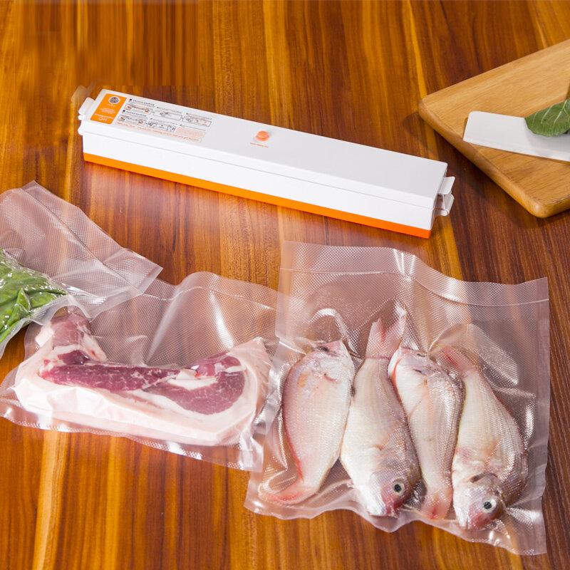Schnelle Verschiffen 220 V/110 V Automatische Elektrische Lebensmittel Vakuum Versiegelung Tragbare Haushalt Vakuum Verpackung Maschine Mit Freies Geschenk 15 taschen