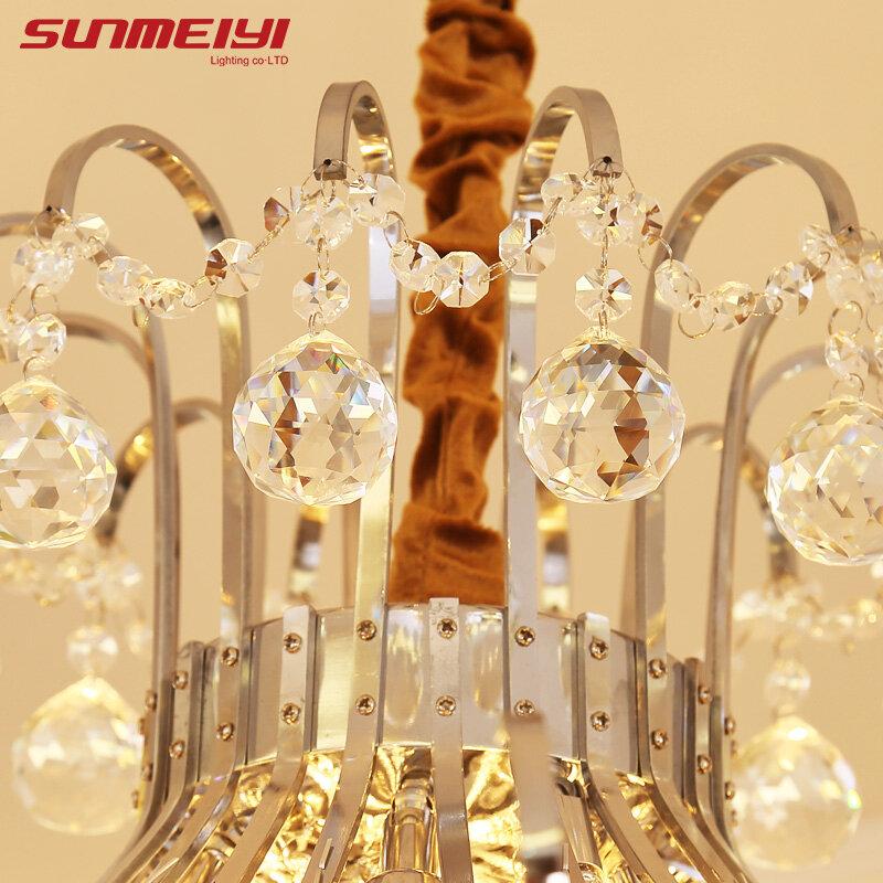 2020 lustre en cristal de luxe salon lampe lustres de cristal lumières d'intérieur pendentifs en cristal pour lustres livraison gratuite