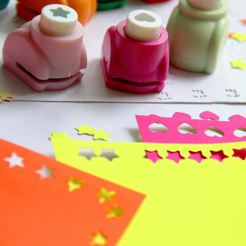 3 Assorted Design Paper Punch Craft Flower Butterfly Heart Card EVA Foam 25 mm
