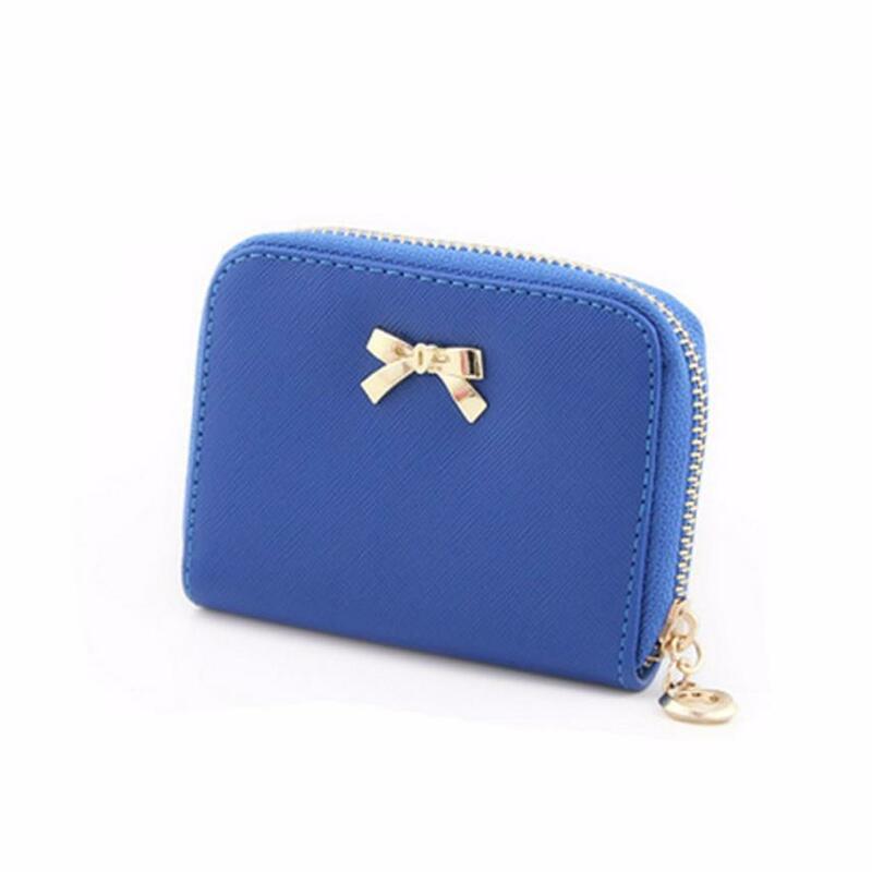 Femmes portefeuilles 2021 nœud papillon fermeture éclair porte-monnaie portable court portefeuille sac à main femme portefeuille pochette pour femmes sacs à main Carteira Feminina