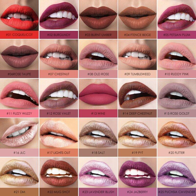 FOCALLURE-lápiz labial líquido mate, crema hidratante a prueba de agua, barra de labios suave, larga duración, tinte de labios, maquillaje de labios cosméticos
