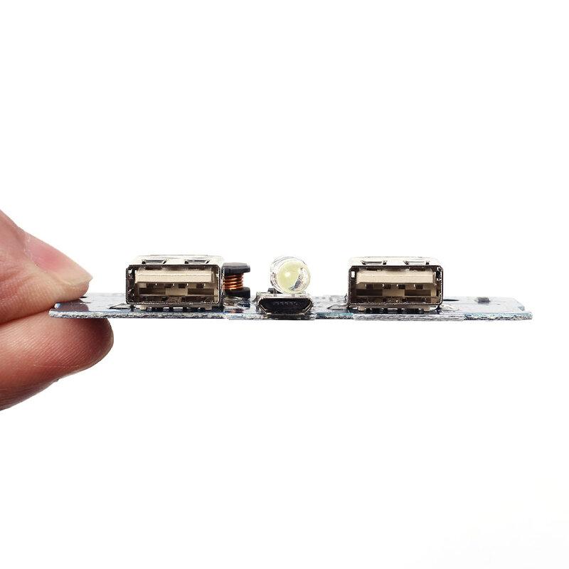 Módulo de cargador tipo batería externa, placa de circuito de carga, aumento de potencia de impulso, 2A, salida USB Dual, entrada de 1A, 5V, 2A