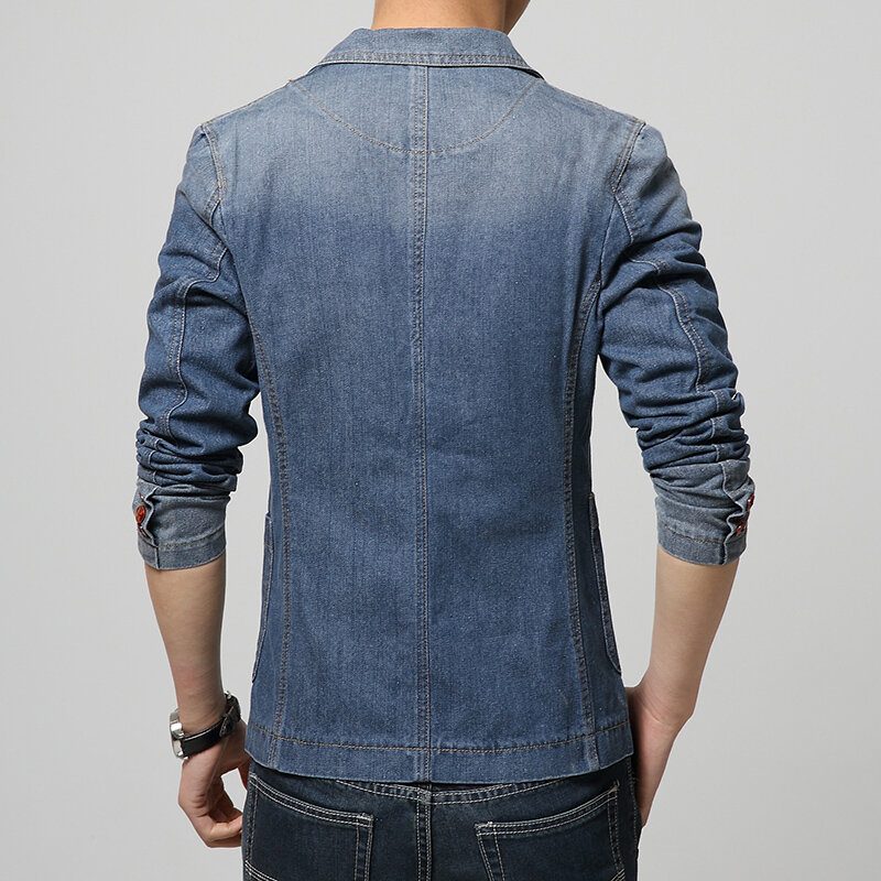 Hot 2020 New Spring Fashion Brand Men Blazer Men Trend Jeans Suits Casual Suit Jean Jacket Men Slim Fit Denim Jacket Suit Men Bestdealplus