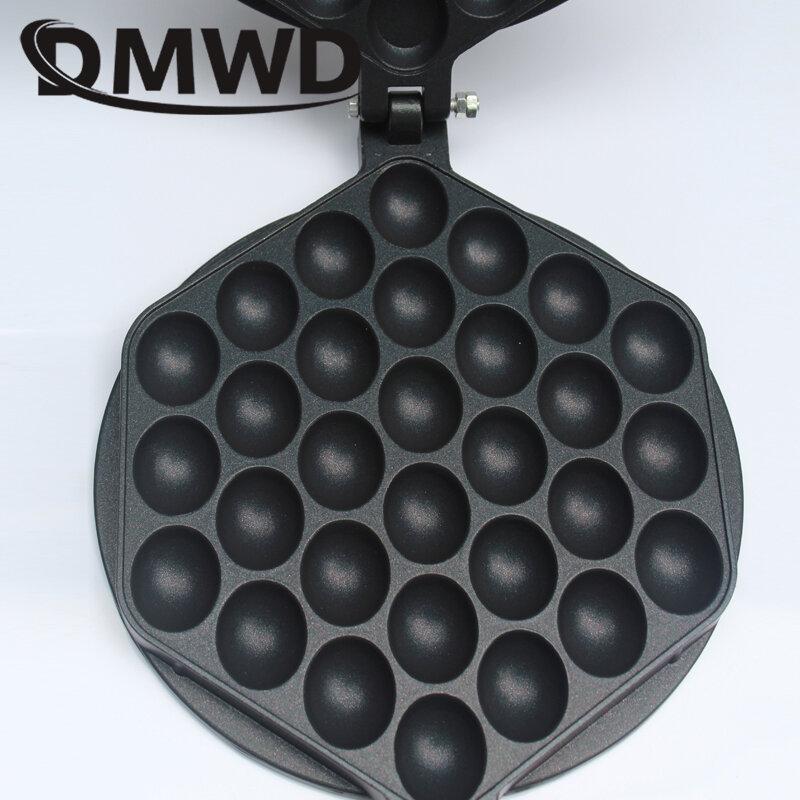 DMWD 110V/220V 전기 중국어 계란 거품 와플 메이커 Eggettes 퍼프 케이크 철 홍콩 계란 머핀 기계 오븐 비 스틱 플레이트